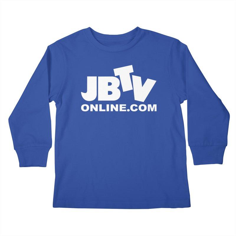 JBTV White Logo Kids Longsleeve T-Shirt by JBTV