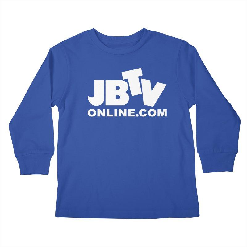 JBTV White Logo Kids Longsleeve T-Shirt by JBTV's Artist Shop