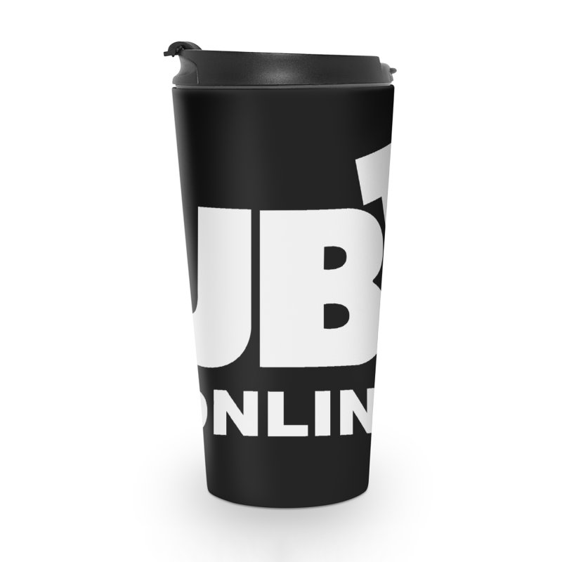 JBTV White Logo Accessories Travel Mug by JBTV