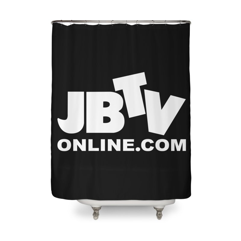 JBTV White Logo Home Shower Curtain by JBTV's Artist Shop