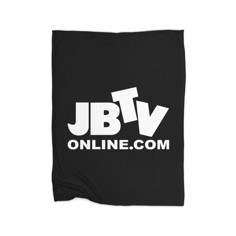 JBTV White Logo Home Blanket by JBTV's Artist Shop