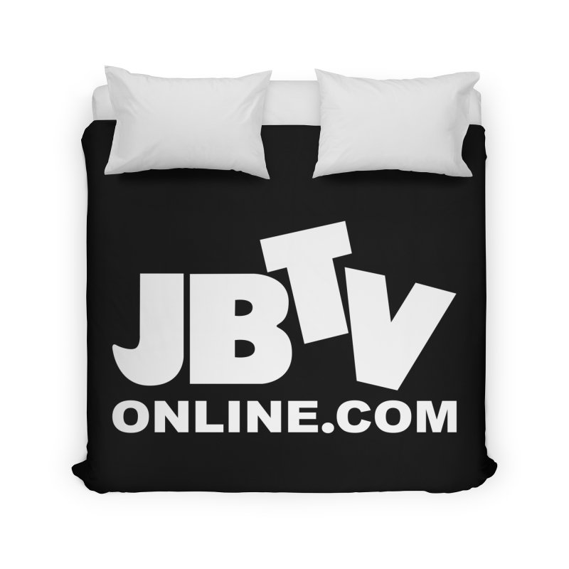 JBTV White Logo Home Duvet by JBTV's Artist Shop