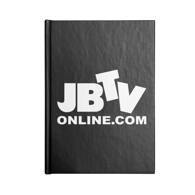JBTV White Logo Accessories Lined Journal Notebook by JBTV