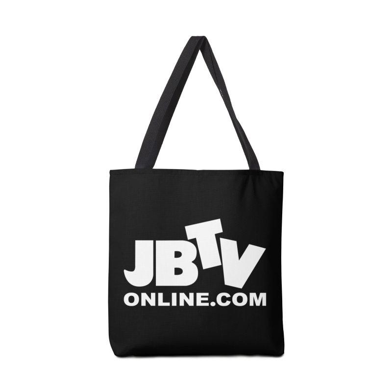JBTV White Logo Accessories Bag by JBTV