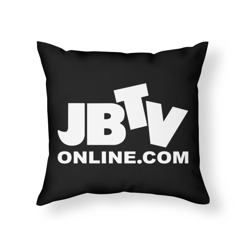 JBTV White Logo Home Throw Pillow by JBTV's Artist Shop
