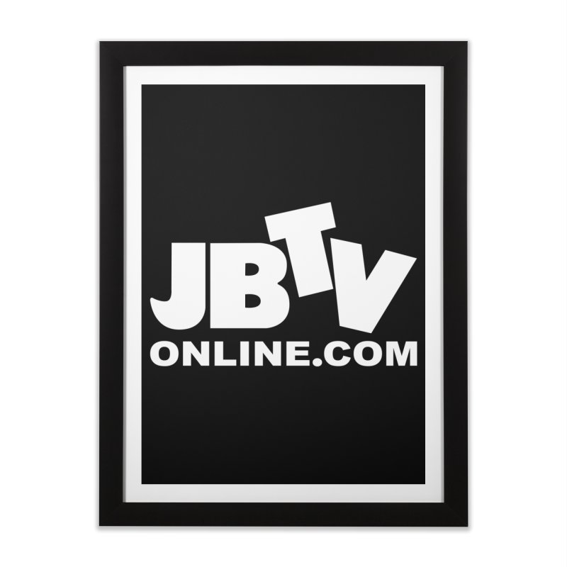 JBTV White Logo Home Framed Fine Art Print by JBTV