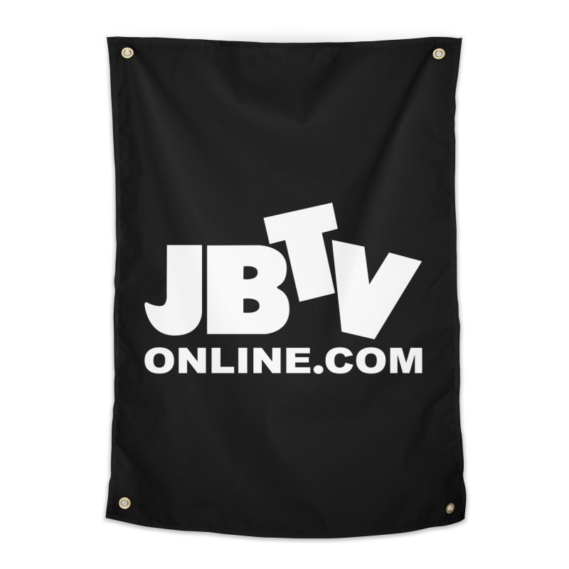 JBTV White Logo Home Tapestry by JBTV's Artist Shop