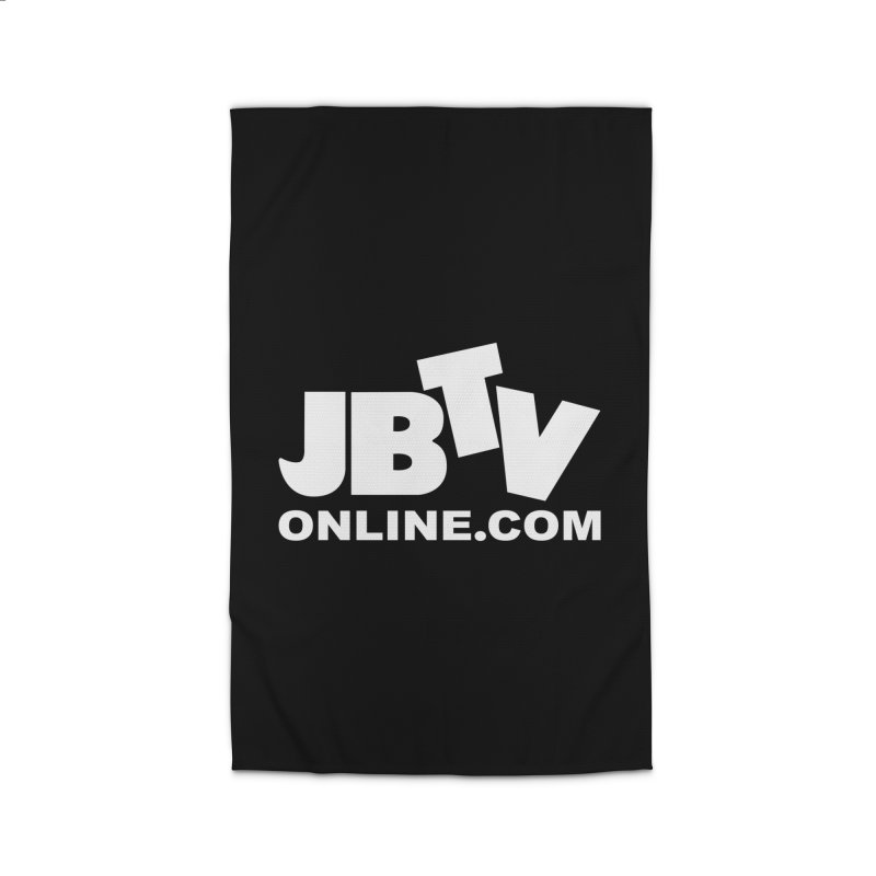 JBTV White Logo Home Rug by JBTV's Artist Shop
