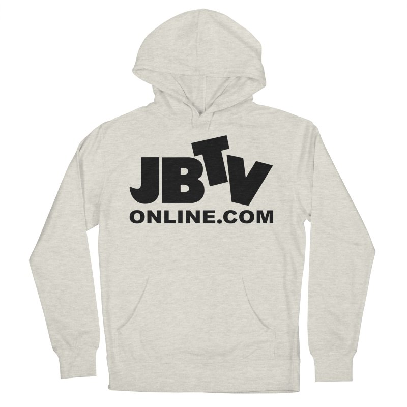 JBTV Black Logo Men's French Terry Pullover Hoody by JBTV's Artist Shop