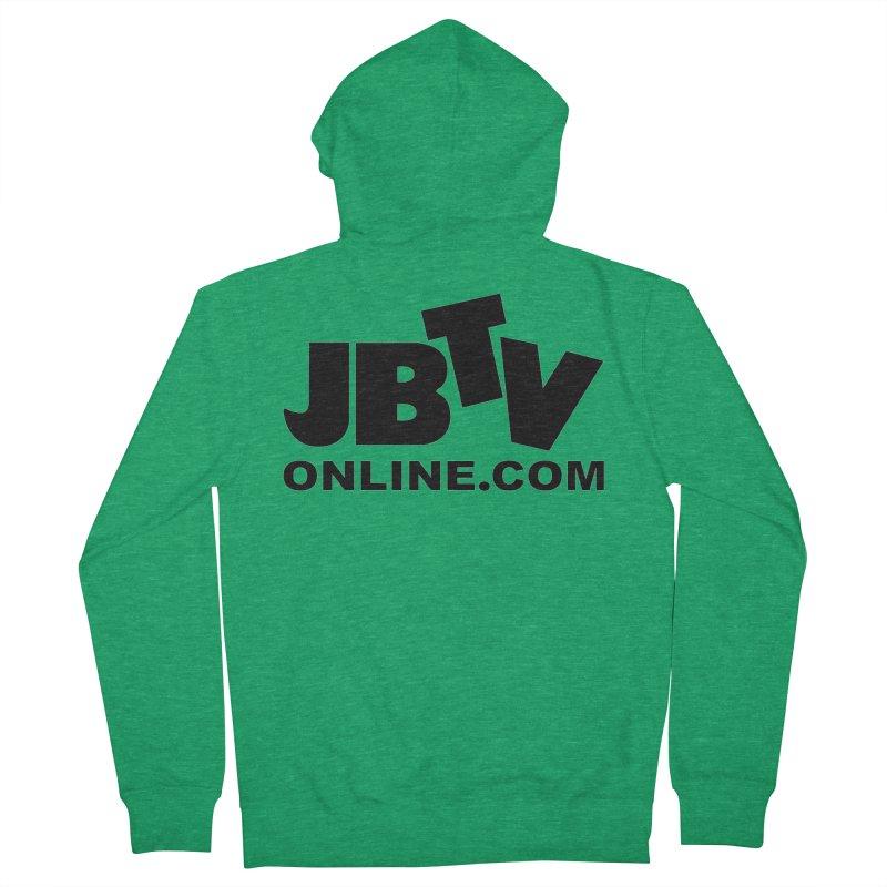 JBTV Black Logo Women's French Terry Zip-Up Hoody by JBTV's Artist Shop