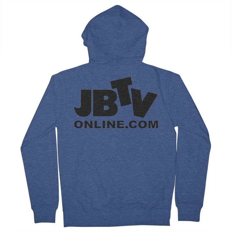JBTV Black Logo Women's French Terry Zip-Up Hoody by JBTV