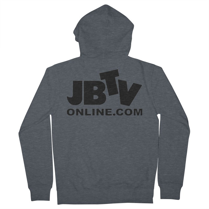 JBTV Black Logo Men's French Terry Zip-Up Hoody by JBTV's Artist Shop