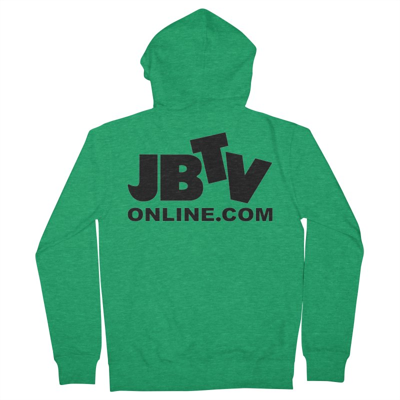 JBTV Black Logo Men's Zip-Up Hoody by JBTV's Artist Shop