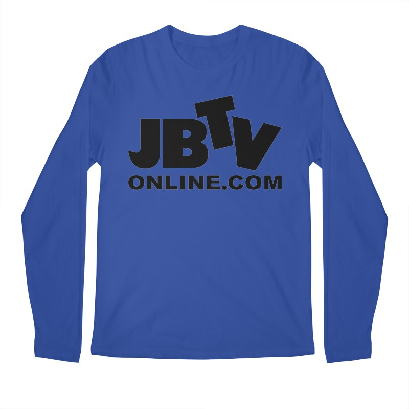 JBTV Black Logo Men's Regular Longsleeve T-Shirt by JBTV