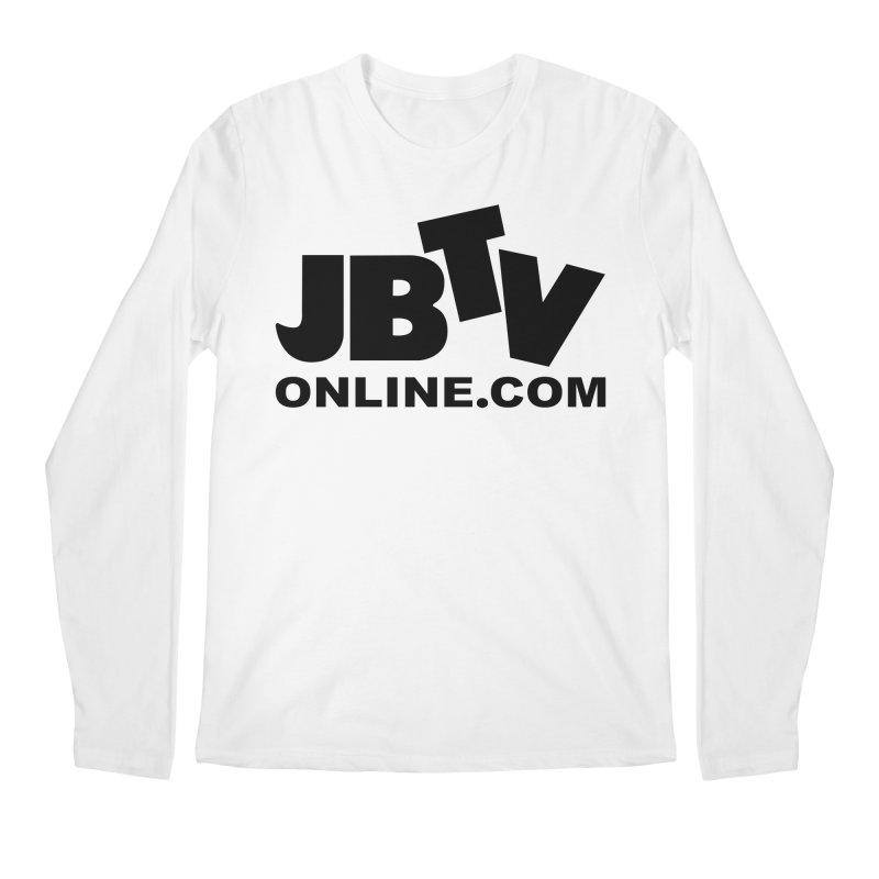 JBTV Black Logo Men's Regular Longsleeve T-Shirt by JBTV
