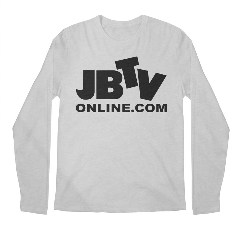 JBTV Black Logo Men's Regular Longsleeve T-Shirt by JBTV's Artist Shop