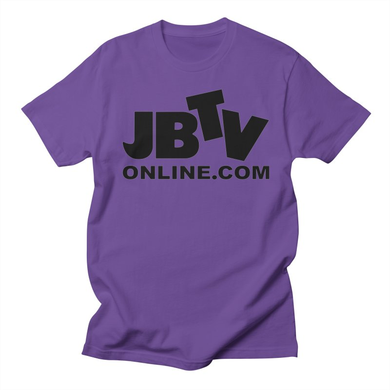 JBTV Black Logo Men's T-shirt by JBTV's Artist Shop