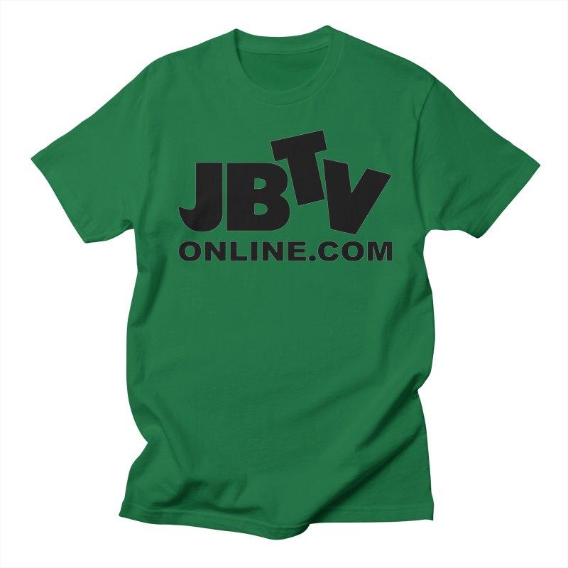 JBTV Black Logo Men's Regular T-Shirt by JBTV