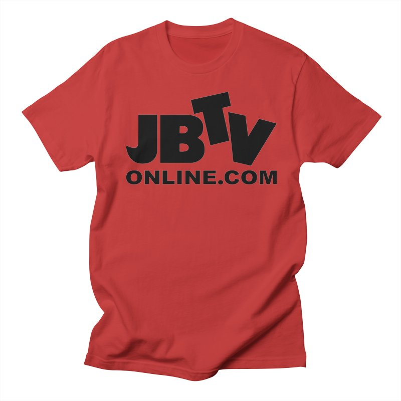JBTV Black Logo Men's Regular T-Shirt by JBTV