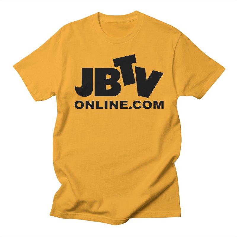 JBTV Black Logo Men's Regular T-Shirt by JBTV's Artist Shop