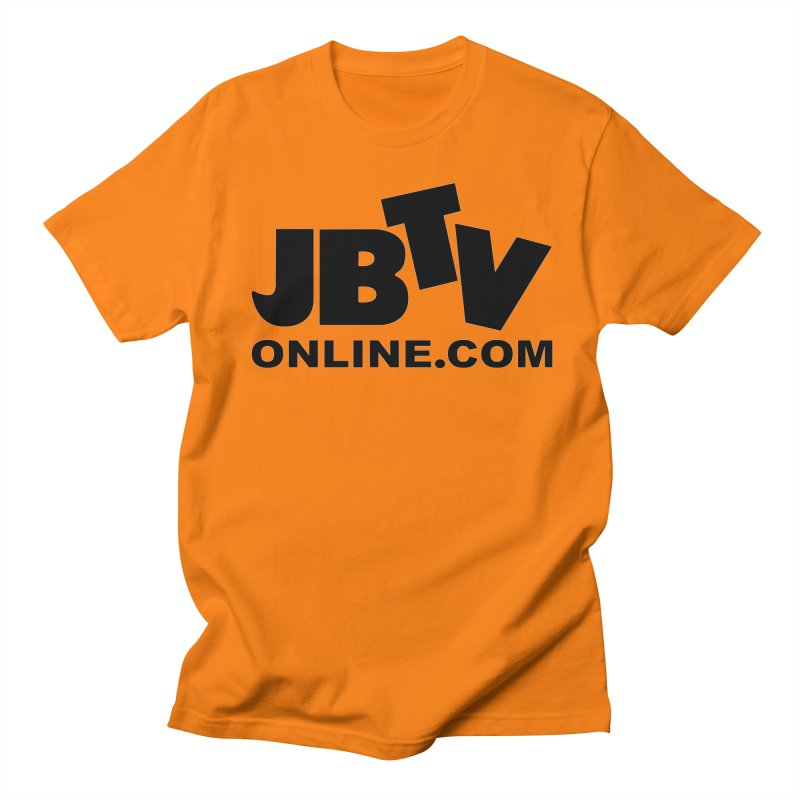 JBTV Black Logo Men's Regular T-Shirt by JBTV's Artist Shop