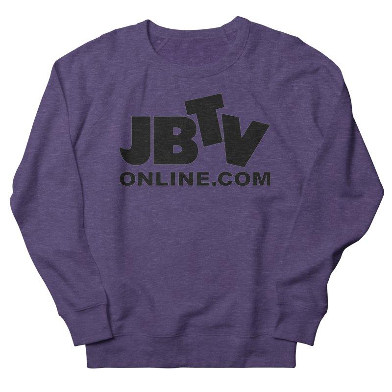 JBTV Black Logo Women's French Terry Sweatshirt by JBTV's Artist Shop