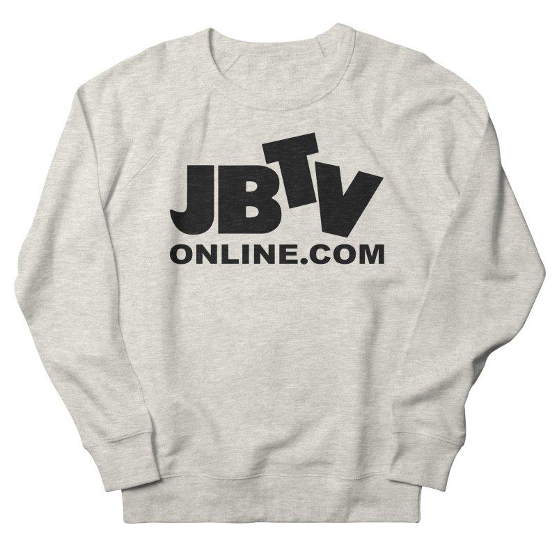 JBTV Black Logo Women's French Terry Sweatshirt by JBTV