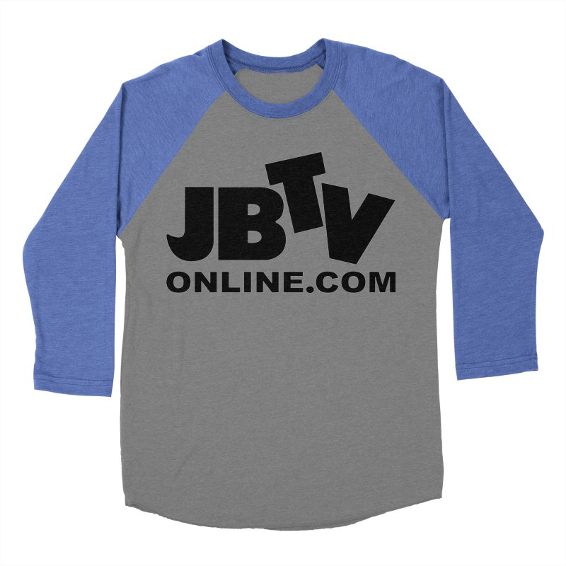 JBTV Black Logo Women's Baseball Triblend Longsleeve T-Shirt by JBTV