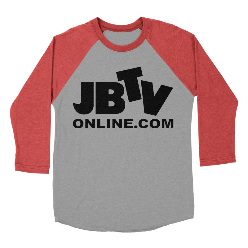 JBTV Black Logo Women's Baseball Triblend T-Shirt by JBTV's Artist Shop