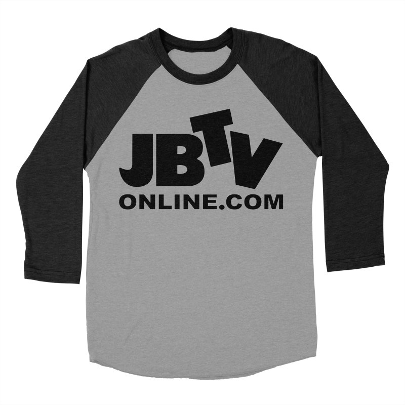 JBTV Black Logo Women's Baseball Triblend Longsleeve T-Shirt by JBTV