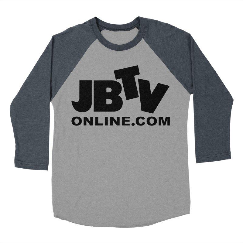 JBTV Black Logo Women's Baseball Triblend T-Shirt by JBTV's Artist Shop