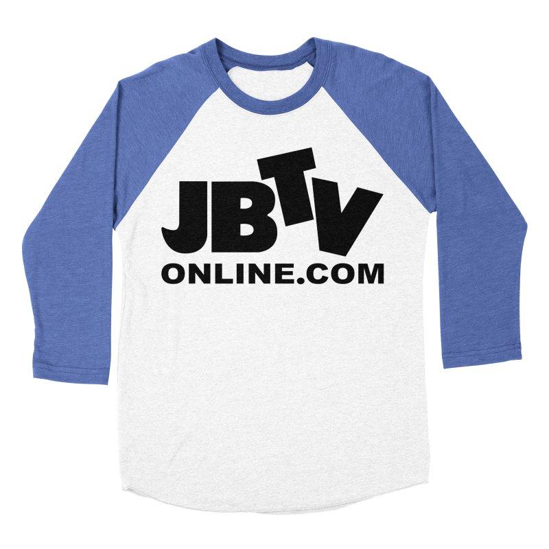 JBTV Black Logo Men's Baseball Triblend Longsleeve T-Shirt by JBTV's Artist Shop
