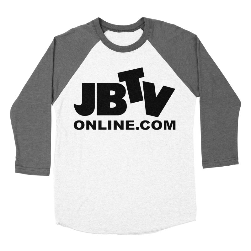 JBTV Black Logo Men's Baseball Triblend T-Shirt by JBTV's Artist Shop