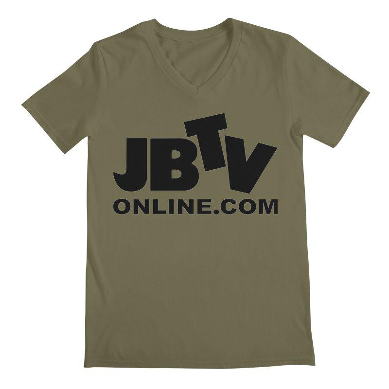 JBTV Black Logo Men's V-Neck by JBTV's Artist Shop