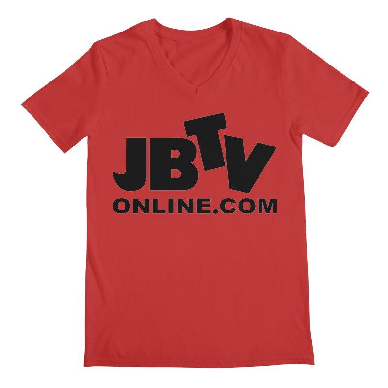 JBTV Black Logo Men's Regular V-Neck by JBTV