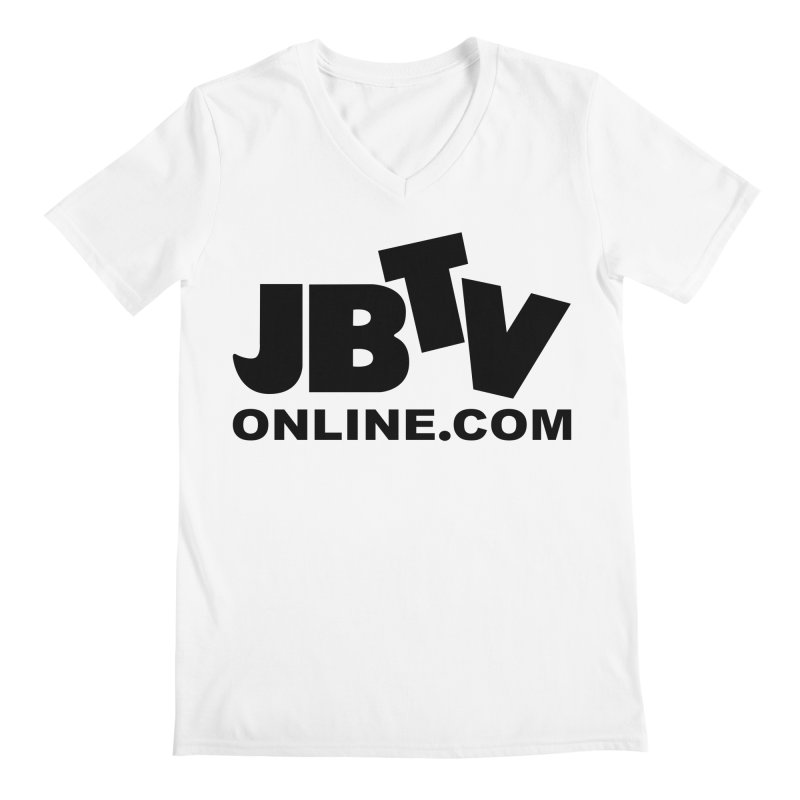 JBTV Black Logo Men's Regular V-Neck by JBTV's Artist Shop
