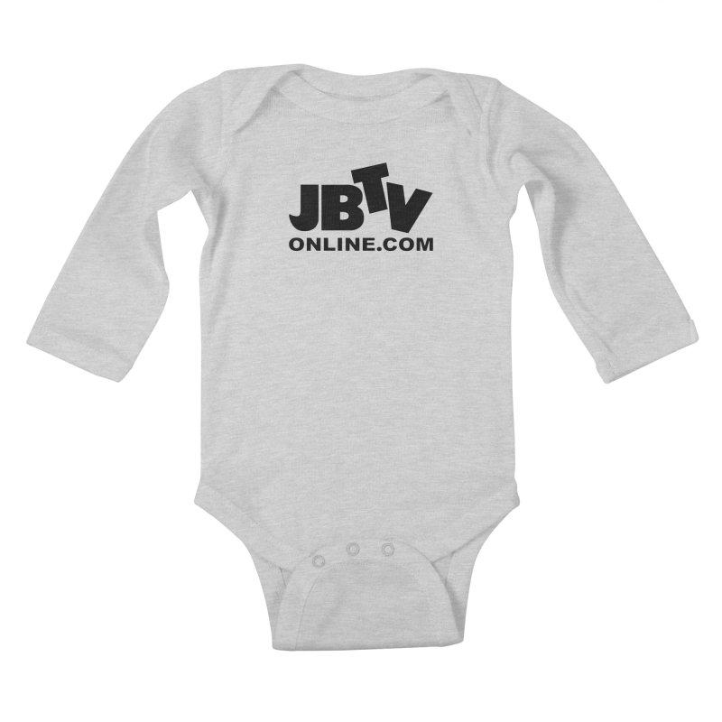JBTV Black Logo Kids Baby Longsleeve Bodysuit by JBTV's Artist Shop