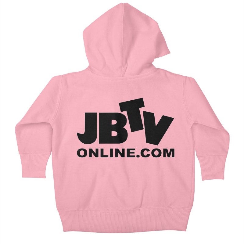 JBTV Black Logo Kids Baby Zip-Up Hoody by JBTV's Artist Shop