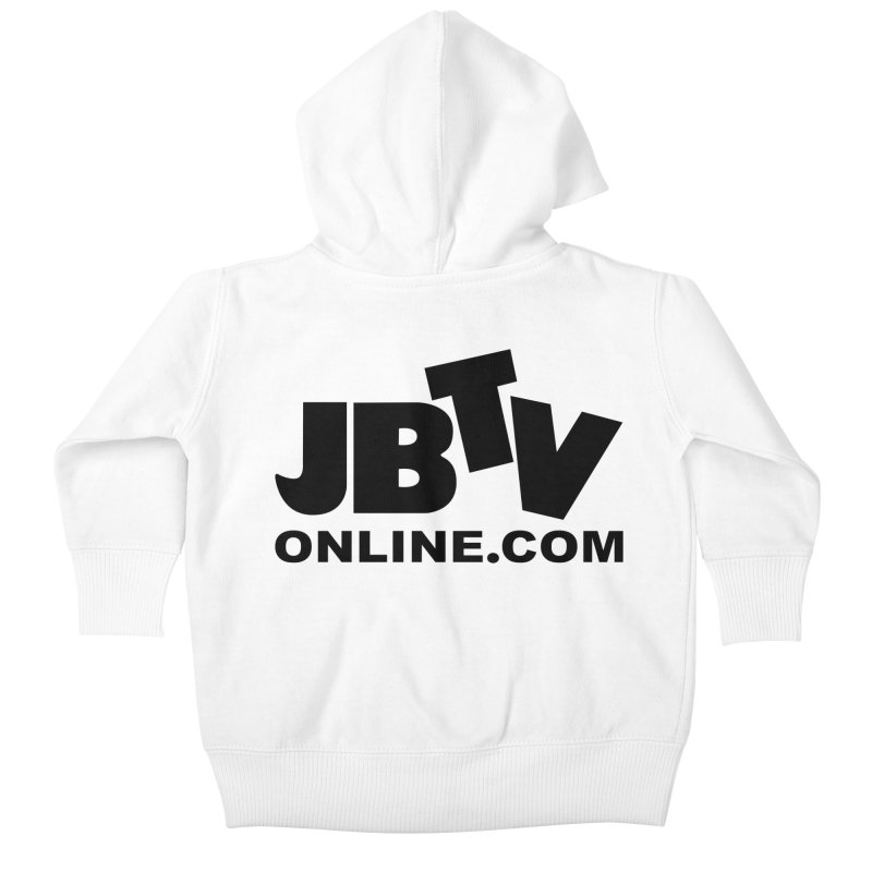 JBTV Black Logo Kids Baby Zip-Up Hoody by JBTV