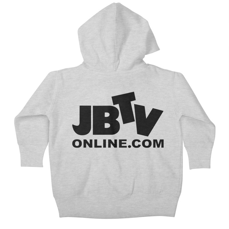 JBTV Black Logo Kids Baby Zip-Up Hoody by JBTV's Artist Shop