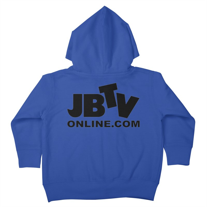 JBTV Black Logo Kids Toddler Zip-Up Hoody by JBTV