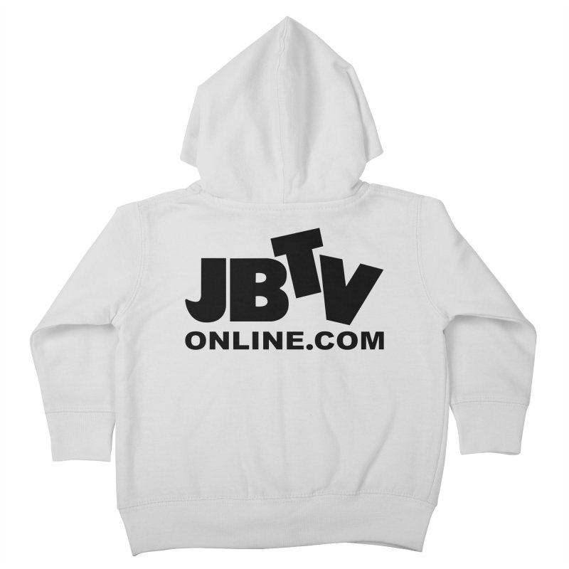 JBTV Black Logo Kids Toddler Zip-Up Hoody by JBTV