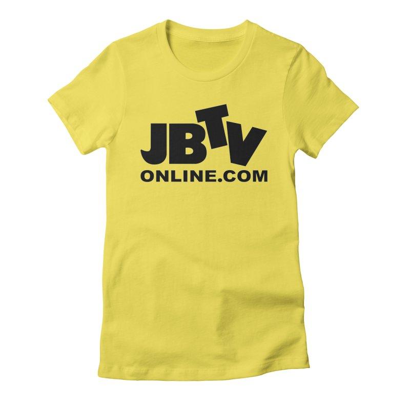 JBTV Black Logo Women's Slip-On Shoes by JBTV's Artist Shop