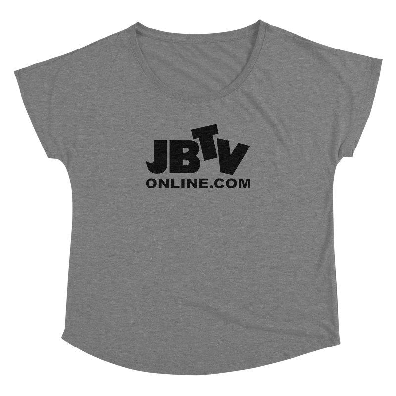 JBTV Black Logo Women's Dolman Scoop Neck by JBTV