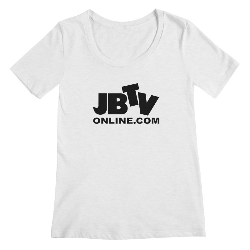 JBTV Black Logo Women's Regular Scoop Neck by JBTV's Artist Shop