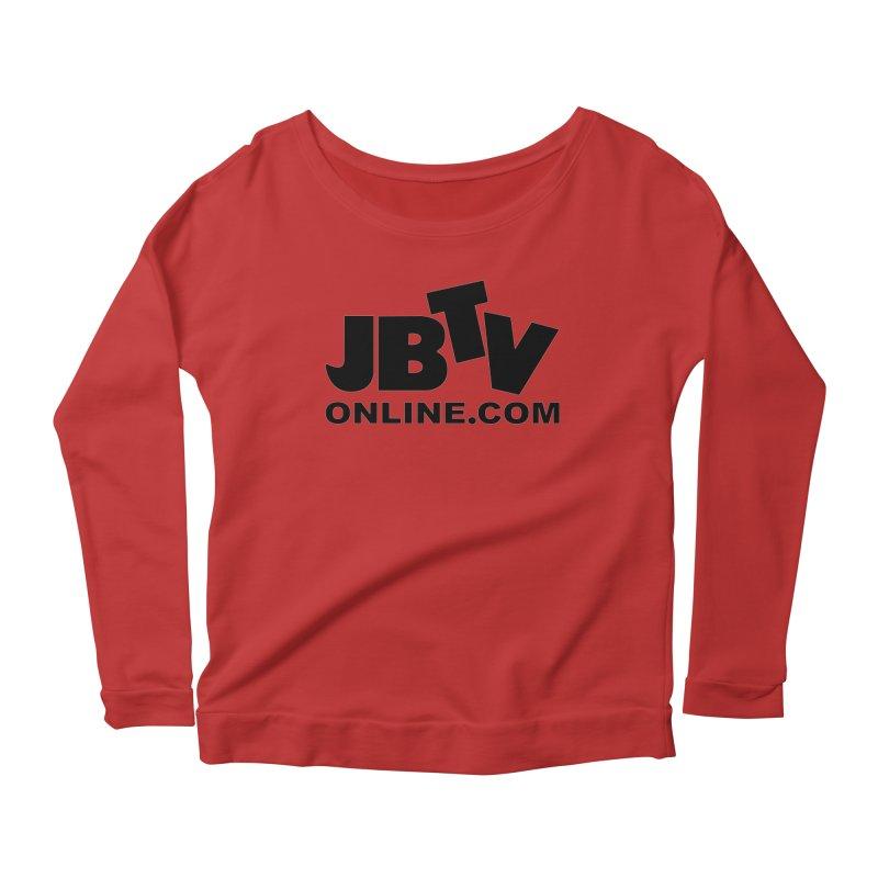 JBTV Black Logo Women's Longsleeve Scoopneck  by JBTV's Artist Shop