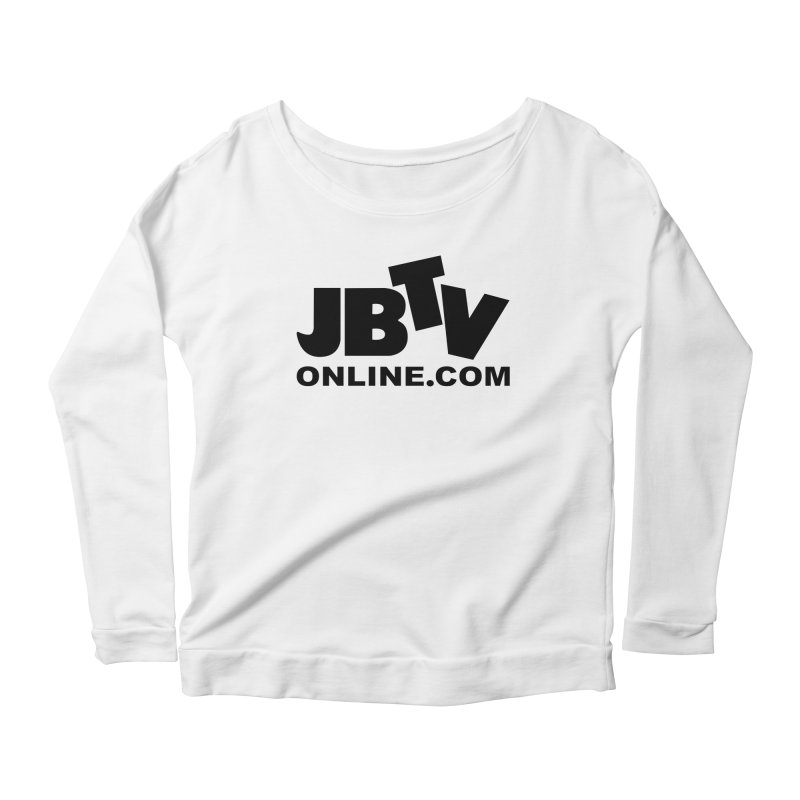JBTV Black Logo Women's Scoop Neck Longsleeve T-Shirt by JBTV