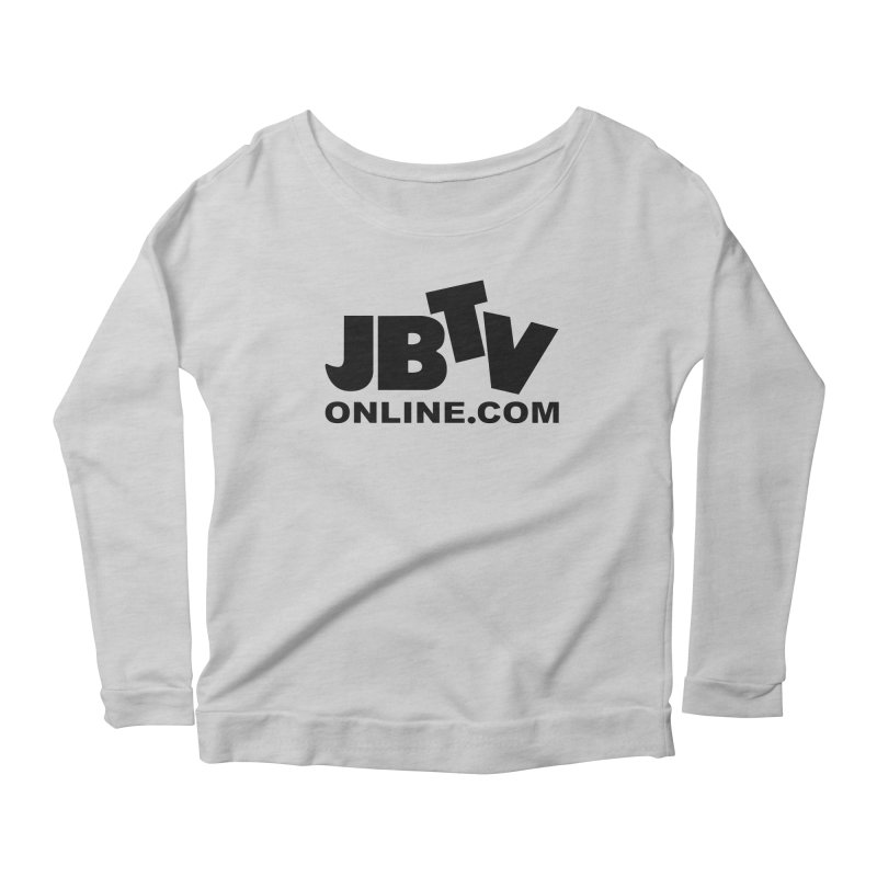 JBTV Black Logo Women's Scoop Neck Longsleeve T-Shirt by JBTV
