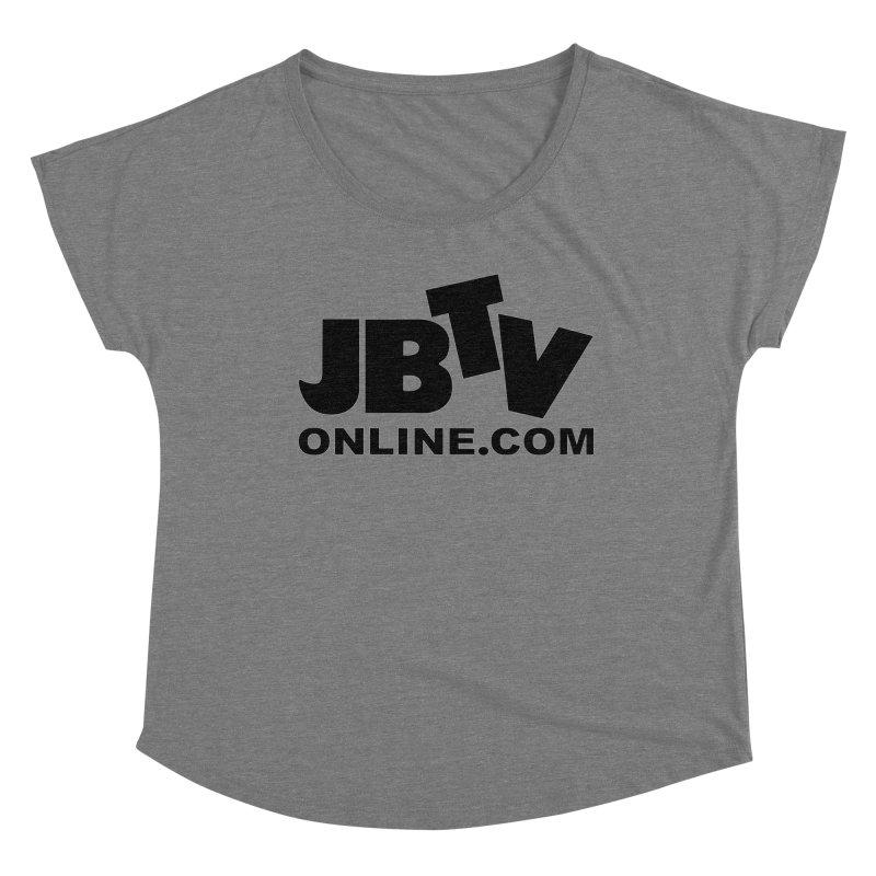 JBTV Black Logo Women's Scoop Neck by JBTV