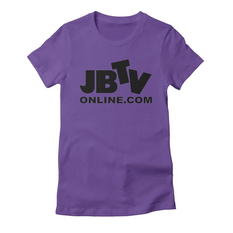 JBTV Black Logo Women's Fitted T-Shirt by JBTV's Artist Shop